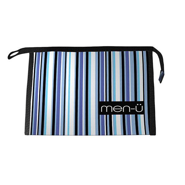 men-u stripes toiletry bag