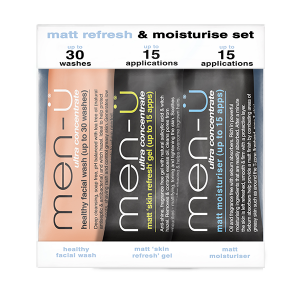 men-u matte refresh and moisturize set